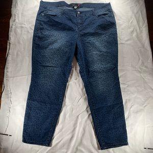 Torrid straight leg animal print Blue jeans 24